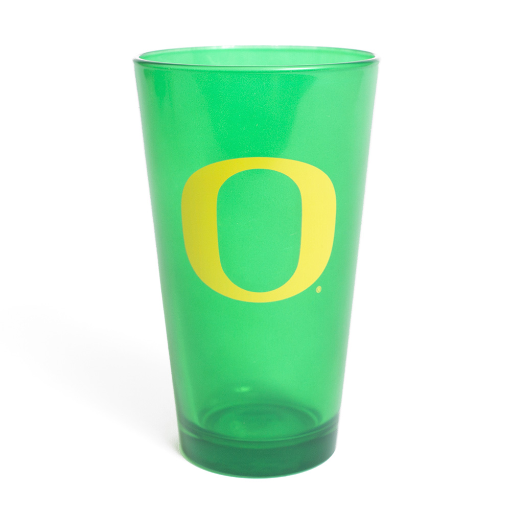 O-logo, Green, Glass, Pint